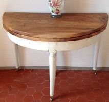table Louis Philippe noyer patine lin vieillie atelier patines saint cannat